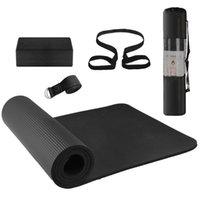 요가 운동 세트 체육관 요가 매트 블록 스트랩 블록 홈 피트니스 장비 매트 스토리지 파우치 및 스트랩