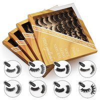 False eyelash extension dramatic messy faux cils 3D mink eyelashes thick fluffy soft cosmetic makeup fake lashes 16 pairs mix a set