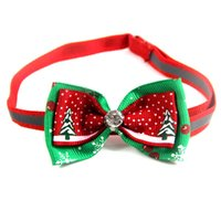 Christmas Holiday Pet Cat Dog Collar Bow Tie Adjustable Neck Strap Cat Dog Grooming Accessories Pet Decoration Cat Dog Supplies