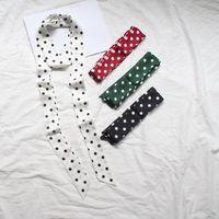 Scarves Choice 2M Lengthen Satin Silk Neckerchiefs For Women Fashion Double Printing Ladies Neck Bags Hair Ribbons Hats Belt