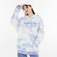 2021 Primavera Autunno Donne Hooides Sweaarshirt Designer T Shirt Donna Tridimensionale stampata con cappuccio felpa con cappuccio Stile grigio blu grigio