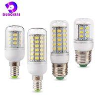 전구 E27 E14 LED 옥수수 전구 24 36 48 56 69 72 LED SMD 5730 220V Lampada 램프 샹들리에 촛불 라이트 Bombilla