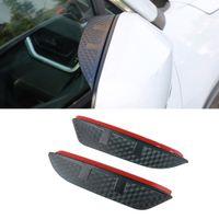 For KIA K4 K7 K9 2pcs Car Side Rear View Mirror Rain Visor Carbon Fiber Texture Eyebrow Sun Shade Snow Guard Cover Accessories