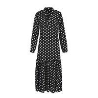 Casual Dresses Hirigin Women's Boho Long Maxi Dress Beach Evening Party Polka Dot Bandage Draped