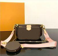 Fashion woman luxurys designers crossbody bags Cross Body Floral Chains wallet backpack handbags purses card holder bag tote mini 3-piece set shoulder handbag purse