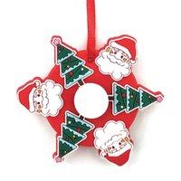 Рождественские игрушки FIDGET GYRO CHRISMA CHRISTMA Спиннинг Топ Детские сенсорные противозачитывающиеся игрушки пальца