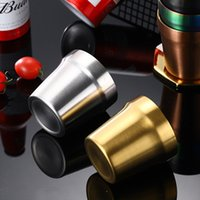 304 Stainless Steel Wine Glasses Multi Purpose Metal Beer Glass Coffee Cup Household Teacup CCF6994