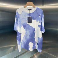 2021SS Весна и лето Новый высококачественный хлопчатобумажный печать с коротким рукавом круглые шеи панель футболки Размер: M-L-XL-XXL-XXXL Цвет: черный белый D31