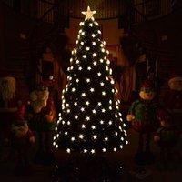 크리스마스 장식 1.2-3 미터 LED 조명 광학 섬유 럭셔리 트리 따뜻한 빛 크리스마스 가정용 인공