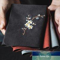 Vintage broderad te servetter tyg fisk plommon blomma mönster skål tekanna rengöring handduk skrivbord te ceremoni tillbehör