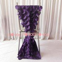 Sashes 1PCS 35cm*200cm 3D Taffeta Chiavari Chair Sash In Purple Wafer Shape Ship To USA