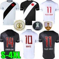 20 21 Club Vasco da casa fora Gama Futebol Jerseys 2021 Maxi Rios Paulinho Fabiano Muriq Preto Camisa de Futebol Branco S-4XL Personalizado