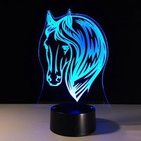 Horse Night Lamps Pony For Color Change Gifts USB Toys Small Ship 3D Indoor Atmosphere Lamp Acrylic Kids' Light And LED Drop 7 Bsbwd