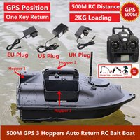GPS Smart Remote Control RC Bait Boat 500M 3 Hoppers GPS Position Auto Reuturn Fixed Speed Cruise WirelRC Fishing Nest Boat X0522