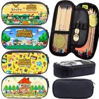 Kinder Spiel Tierübergang Stift Tasche Cartoon Bleistiftkoffer Mädchen Kosmetik Makeup Hohe Qualität Große Kapazität Schreibwaren Taschen Hüllen