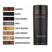 2021 Top Hair Building Fibers Pik 27.5G Топпки Волокно истончение сокрушителя Мгновенные крятиновые волосы порошок черного спрея аппликатор