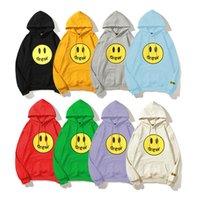 8 цветов Мужские дизайнерские толстовки Drewhouse Smiley Justin Bieber High Sreet с длинным рукавом толстовка