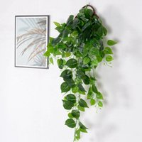 Decorative Flowers & Wreaths Artificial Plant Vines Wall Hanging Decoration Simulation Rattan Leaves Branches Green Ivy Leaf Home Wedding