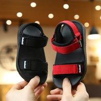 Yaz Yeni Tuval Sandalet Erkek Kız Sandalet Katı Renk Yumuşak Soled Kaymaz Çocuklar Çocuk Ayakkabı Yaz Plaj Sandalet 1081 X2