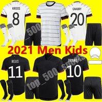남자 키트 키트 2021 유럽 컵 국가 대표팀 축구 유니폼 홈 Hummels Kroos Draxler Reus Muller Gotze 축구 셔츠 유니폼