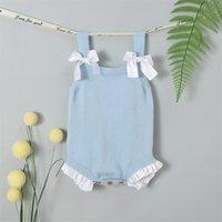 Baby Mädchen Bodysuits Kleidung Sommer Sleeveless Neugeborene Bebern Körper Tops Kleinkind Infant Jumpsuits Sonnenuiten Kinder Kostüme 856 x2