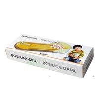 Newdesktop Mini Bowling jeu Set Unique Novelty Bureau Jouets Jouets Funny White Elephant Gag Cadeaux de table en bois Top Board Jeux Doigt EWD6817