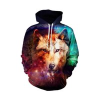 Men's Hoodies & Sweatshirts Selling Anime 3d Wolf Print And Women's Cute Hawaiian Casual Sportswear Hooded Sweater
