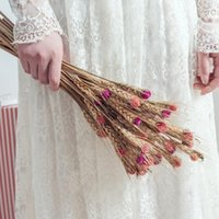 Wheat Ear Dried Flowers Handicraft Artificial Grass Room Decoration Accessorie Bridal Bouquets Pography Props Home Decor Decorative & Wreath