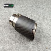 Système d'échappement de moto Système d'échappement de voiture universelle Tuyaux de queue de silencieux en fibre de carbone mate Fin en acier inoxydable pour B-MW B-Enz