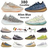 yeezy 380 kanye west Yecoraite RF Onyx hommes chaussures de course Hylte Calcite Glow pepper Blue Oat Lmnte Mist Alien 380s  hommes femmes formateurs baskets de sport avec boîte