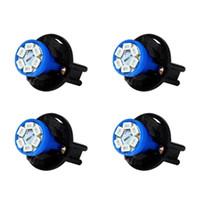 12 فولت T10 SMD 1210 6 المصابيح تويست المقبس أداة لوحة ضوء الصمام مقياس الكتلة المصابيح لوحة لوحة مع حامل (الأزرق) أضواء الطوارئ
