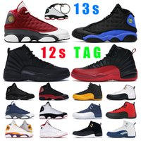 13s 12s Mens basketball shoes 12s jumpman 12 Dark Concord University Gold Stone Blue Reverse Flu Game Dark Grey men sports sneakers trainers outdoor