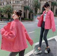 أزياء الربيع باريس النسخة الكورية من سترة الدنيم المرأة، الذكور زوجين تصميم الهيب هوب ستايل شارع