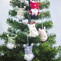 Navidad Hecho a mano Sueco Gnome Escandinavo Tomte Santa Nisse Nordic Pelush Tabla Adorno Decoraciones de árboles de Navidad HWB8356