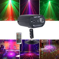 LED Mini Stage Light Laser Voice Control Projector Mixed Red & Green Lighting For Lights Xmas Club Party Bar Pub Club Music DJ In Stock