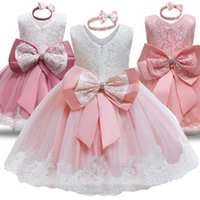 Girl's Dresses Baby Girls Baptism Dress Princess 1st Birthday Party Wear Toddler Girl Lace Christening Gown Infant Tutu Clothes 12 24M
