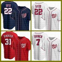 Washington Baseball Jersey Nationals Custom 22 Juan Soto 31 Max Scherzer 7 Turner 6 Anthony Rendon 11 Ryan Zimmerman 20 Daniel Murphy