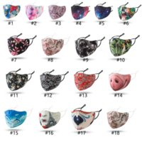Color fashion Face Mask Color Mouth Cover Anti-bacterial PM2.5 Respirator Dustproof Washable Reusable Silk Cotton Masks Black Packaging DHL