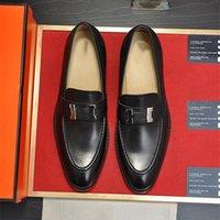 Un lujoso nuevos mocasines para hombre Hombres París de cuero genuino Gommino resbalones en Walk Washing Woman Business Drive Dress Classics Shoes Tamaño 38-45