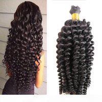 Mongólio Kinky Curly Bulk Hair 100g Bulk Humano Bulk Sem Trama Afro Kinky Curly Bulk Hair