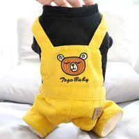 Dog Apparel Corduroy Jumpsuit Thicken Warm Clothes Puppy Yorkie Clothing Poodle Bichon Pomeranian Schnauzer Pet Coat Costumes