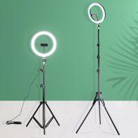 LED Ringlicht 26 cm Dimmbare Selfie Ringlampe Fotostudio mit Standfotografie Beleuchtung für YouTube-Video