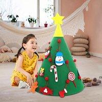 다채로운 DIY 장식품과 크리스마스 트리를 느꼈다 크리스마스 선물 새 해 문 벽 매달려 크리스마스 장식 키즈 수동 액세서리 HWF7351