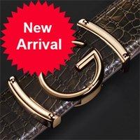 مصمم حزام للرجال النساء أزياء إلكتروني السلس مشبك cowskin الذهب الفاخرة الذهب / الشظية / أسود ز حزام للجنسين