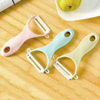 Durable Ceramic Fruit Vegetable Peeler Plastic Potato Carrot Grater Cutter Sharp Peeler Slicer Portable Kitchen Gadgets AHE6649
