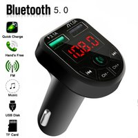 Bte5 Car Mp3 Bluetooth 5.0 Wireless Hands-free Phone Player Music Card Audio Receiver Fm Transmitter Dual USB Fast Charger 3.1A