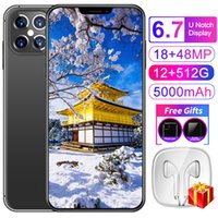 2022 Newest Hot Selling Mobilephone 12+512GB Andriod 11.0 Phone MTK6889 10 Core 6800mAh Big Battery 24+48MP Smartphones 4G 5G LTE