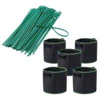 Câbles de plante plastique ajustable de 200pcs réutilisables 5 pcs Sacs de culture 1 gallon Tissu en tissu d'aération Autres livraisons de jardin