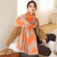 Scarves 2021 Fashion Cashmere Shawls And Wraps Foulard Female Blanket Winter Warm Thick Bufanda Travel Stoles