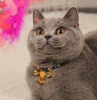 Kedi yaka açar Pet Malzemeleri bir tane satın almak ücretsiz yaka kolye uzun ömürlü kilit nokta toptan zil